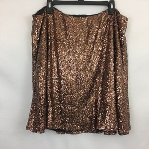 Charlotte Russe Gold Sequin Stretch Mini Skirt